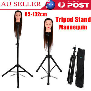Hair Training Practice Head Mannequin Hairdressing Salon with Stand Holder NEW