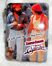 """CHEECH AND CHONG UP IN SMOKE METAL CIGARETTE / WALLET CASE 3 5/8""""X2 5/8"""" NEW"""