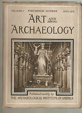 6 Art And Archaeology Magazines VOL4 Numbers 1-6 ILLUS 1916