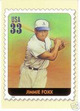 Jimmie Foxx A's official Usps All-Century Team postcard