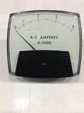 250440Lsxx/Ul Branom Instrument Lab Ac Amperes X-1000 Meter 0-4000 Ac