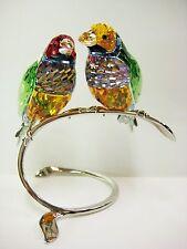 GOULDIAN FINCHES PERIDOT FINCH BIRDS 2013 SWAROVSKI CRYSTAL BIRD  #1141675
