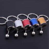 6-Speed Manual Transmission Gear Box Shifter Key Chain Metal Fidget Key Ring New