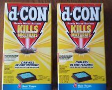 d-Con Ready Mixed Baitbits, (2) Boxes. 8-3oz Bait Trays. Kill Mice & Rats, DCON