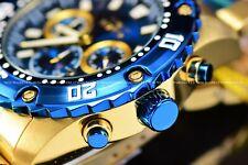 Invicta Men's 48MM Pro Diver Quartz Chrono Water Blue Gold Stainless Steel Watch