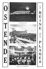 """OSTENDE OOSTENDE """" LA REINE DES PLAGES """" PUBLICITE 1928"""