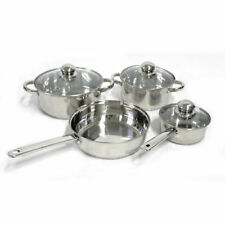 Gold Coast Evolution 7-Piece Stainless Steel Cookware Set with Lids