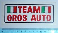 ADESIVO STICKER VINTAGE AUTOCOLLANT AUFKLEBER TEAM GROS AUTO ANNI'80 14x6 cm