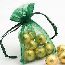 """Green Teal 3 x 4 """" Organza Wedding Party Favor Gift Candy Bags Pouch 25 pcs.Usa"""