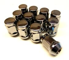 M12 x 1.5 Chrome Plated Replacement Closed End Wheel Nuts x 12 (NS204BX-WNS12)c