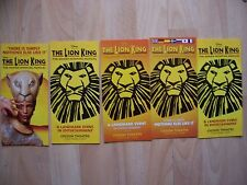 5 different flyers The Lion King at the Lyceum Theatre London