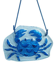 December Diamonds Blue Crab Christmas Holiday Glass Ornament 5 Inches
