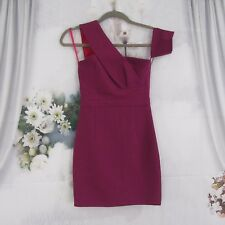 Runaway The Label Purple One Shoulder BodyCon Dress Size 2