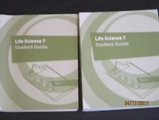 K12 Life Science 7 Student Guide part 1 & 2 lot set jk165