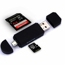 Micro USB OTG to USB 2.0 Adapter SD/Micro SD Card Reader with standard USB Male~