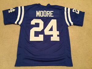 UNSIGNED CUSTOM Sewn Stitched Lenny Moore Blue Jersey - M, L, XL, 2XL
