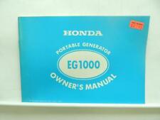 1977 Honda Portable Generator Owners Manual EG1000 B2973