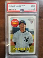 2018 Topps Heritage Gleyber Torres RC - PSA 9 NY Yankees Rookie Card MLB 🔥⚾️🔥⚾