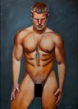 *11* 30x20 cmLAMAI Art print canvas Kunstdruck auf Leinwand Gay Mann Nude Akt