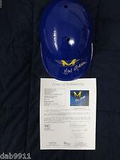 Hank Aaron Milwaukee Brewers SIGNED helmet COA JSA
