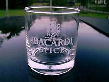 "Bacardi Rum Spice Logo Glas 3.5"" Runde Glas Nice One 1996 datiert"