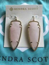 Kendra Scott Rose Quartz Pink Skylar Arrow Drop Earrings Rare HTF