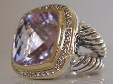 $2450 DAVID YURMAN 18K,SS DIAMOND LAVENDER AMETHYST RING