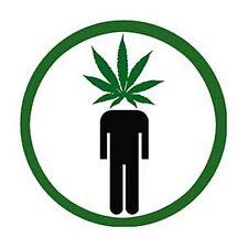 Pot Head Cannabis Leaf round fridge magnet    (cv)