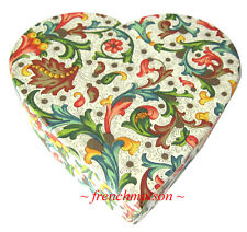 IL PAPIRO ITALIAN Tuscan HANDMADE PAPER Jewelry Stationery Box GIFT New HEART