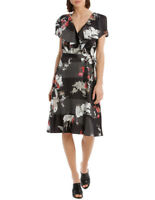 NEW Leona by Leona Edmiston Flamingo Frill Swing Wrap Dress Assorted