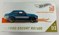 NEW HOT WHEELS id '70 FORD ESCORT RS1600 Light Blue Limited Run Collectible