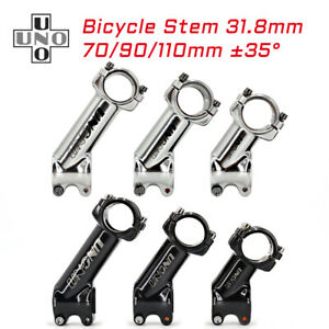 UNO Bicycle Stem 35degree Road Bike Stem Mtb Stem 31.8*70/90/110mm Bicycle Parts