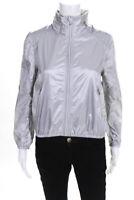 Ralph Lauren Polo Sport Womens Lightweight Hooded Zip Jacket Silver Size Large