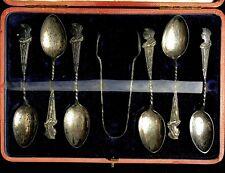 Queen Victoria 1897 Golden Jubilee Antique Sterling Silver Teaspoon Set