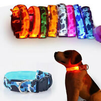 LED Light Up Dog Collar Safety Neck Strap Pet Cat Flashing Puppy Chain