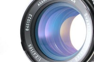 """No Yellowing"" 【MINT w/ Metal Hood】 Pentax SMC T 6x7 105mm f2.4 Lens 67 II JAPAN"