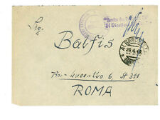 1948 Bari Italy to Rome Displaced Person Camp DP Cover Lithuanian Stampless