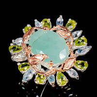 Emerald Ring Silver 925 Sterling Jewelry Unique Design Size 8 /R139440