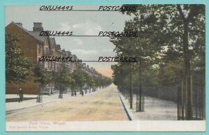 Unposted vintage card, Park View, Wigan, Lancashire