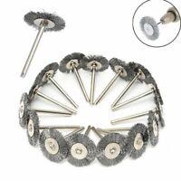 15Pack/Set Stainless Steel Wire Brush For Dremel Rotary Tool die grinder wheel