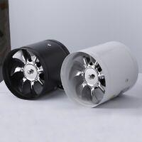 4 Inch Inline Duct Fan Air Ventilator Metal Pipe Ventilation Exhaust Fan U2B7