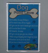 DOG FOOD LAWS/RULES Funny Fridge Magnet - Ideal Gift/Present