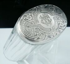 Quality Antique Silver Topped Glass Jar, London 1877