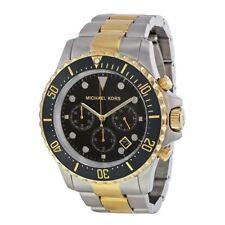 Michael Kors Men's MK8311 Silver TTone/Black Stainless Steel Watch