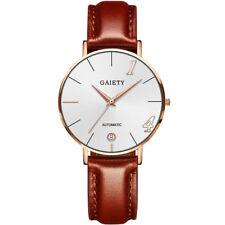 Fashion Womens Watch Leather Strap Line Analog Quartz Ladies Wrist Watches Gift