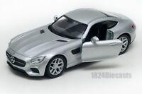 Mercedes SLS AMG GT silver, Welly scale 1:34-39, model toy car gift