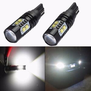 2x 50W CREE 921 906 912 T10 T15 LED 6000K HID White Backup Reverse Lights Bulb