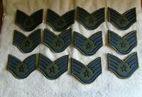 12 USAF Staff Sergeant E-5 Large Patch Badge Vintage NOS Air Force Lot O