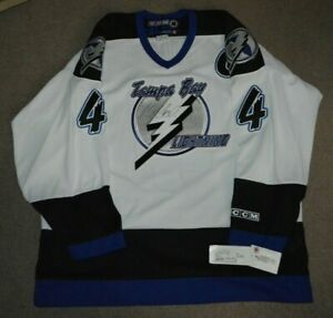 NWT Vincent Lecavalier Autographed Tampa Bay Lightning Hockey Jersey XL