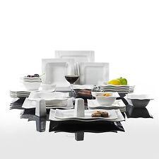 Malacasa 26-Piece China Ceramic Cream White Porcelain Dinner Set